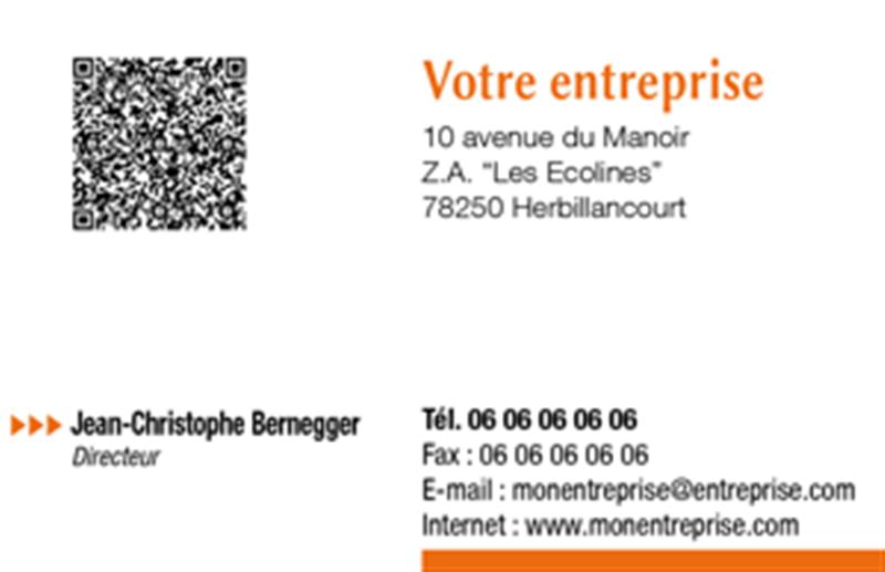 Modele Carte De Visite Auto Entrepreneur