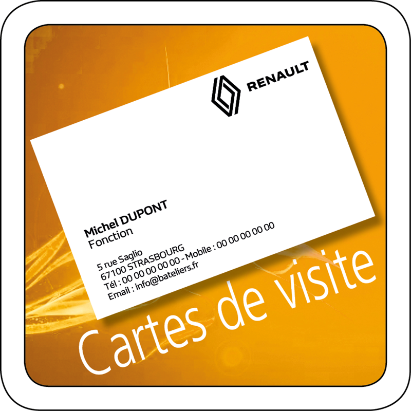 carte de visite renault. Black Bedroom Furniture Sets. Home Design Ideas