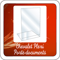 Chevalet Plexi Porte-documents