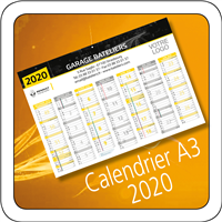 Calendrier Renault 2020 A3
