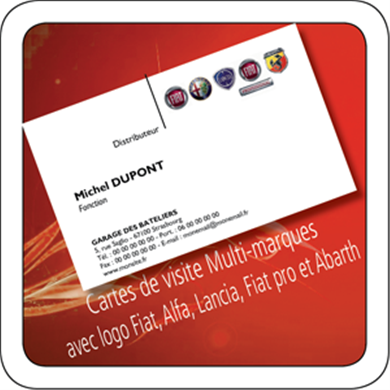 Cartes De Visite Multi Marques FIAT