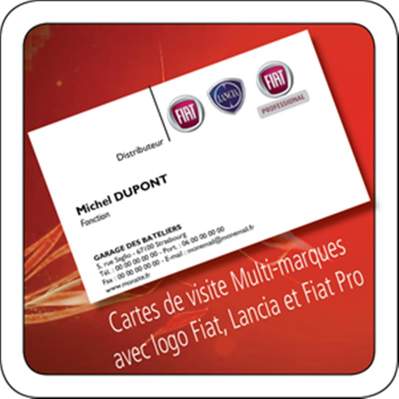 Cartes De Visite Avec Logo FIAT LANCIA PRO