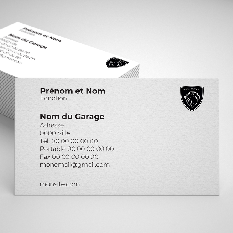 Carte De Visite Peugeot