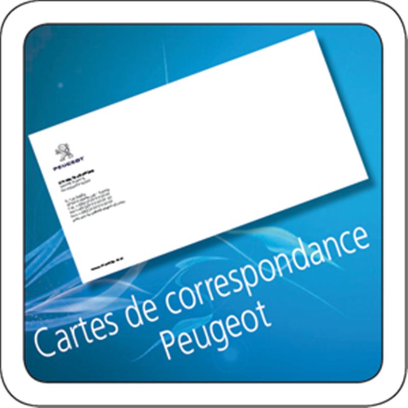 Carte De Correspondance Peugeot