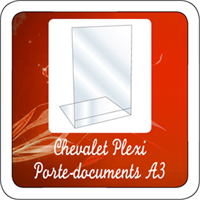 Chevalet Plexi Porte-documents A3