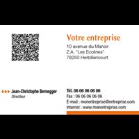 Carte De Visite Professionnelle 85x55 Modle 1A