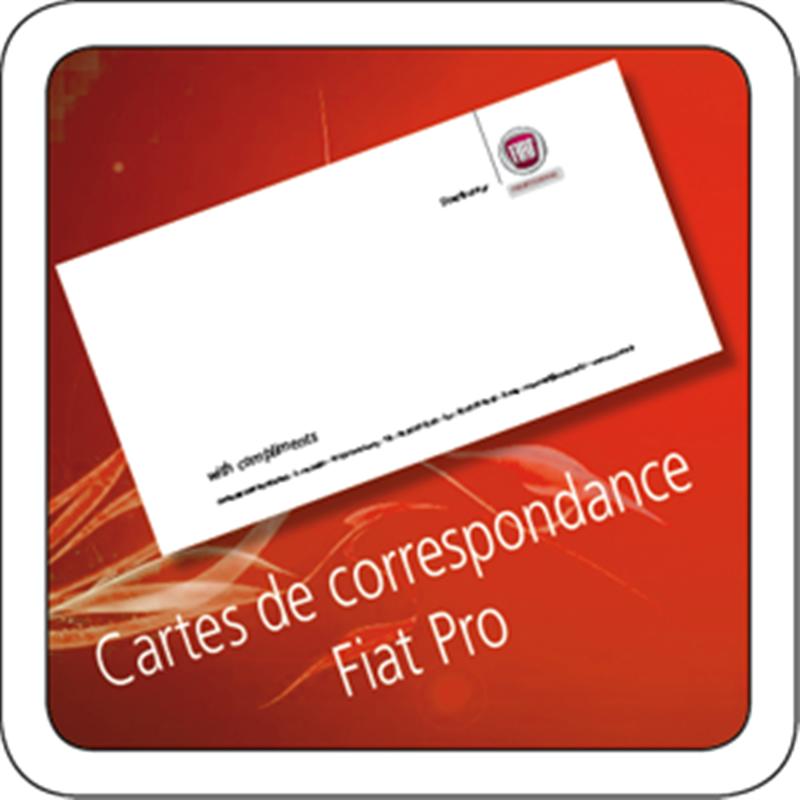 Carte De Correspondance Fiat Pro