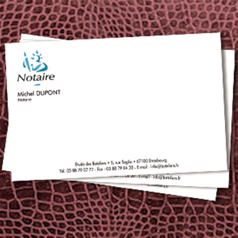 Carte De Correspondance Notaire 12