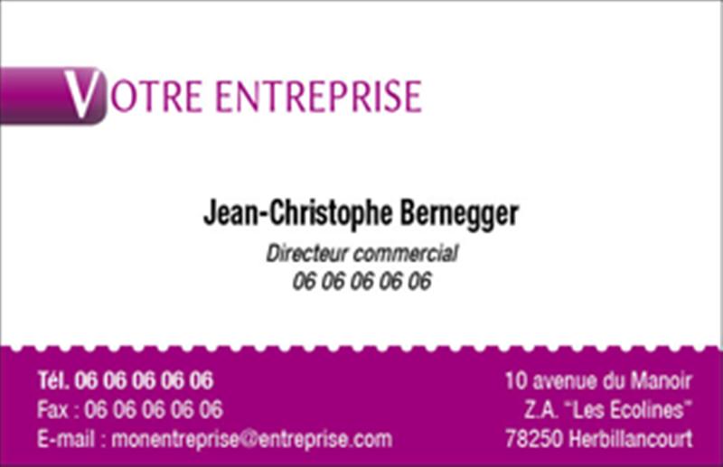 Carte De Visite Professionnelle 85x55 Modle 2B