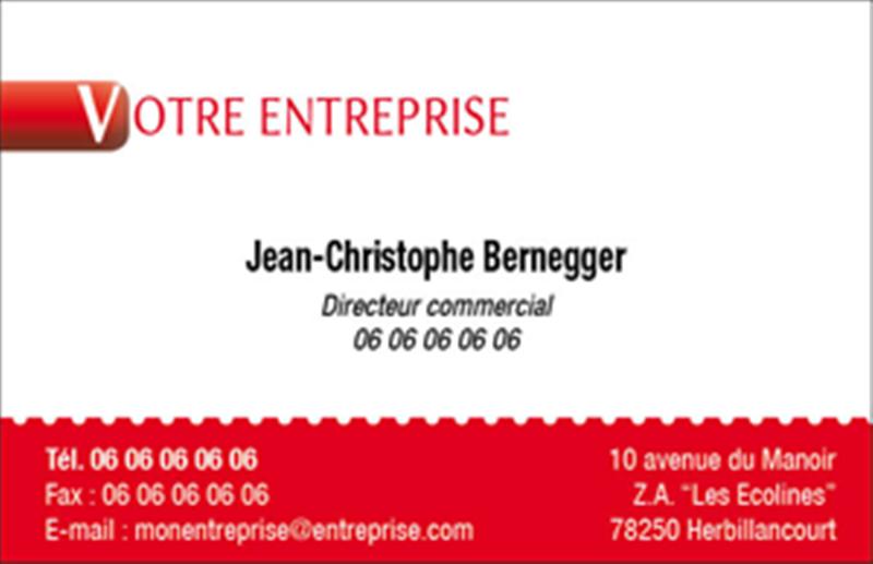 Carte De Visite Professionnelle 85x55 Modle 2E