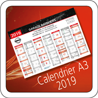 Calendrier Nissan 2019 A3