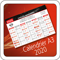 Calendrier Nissan 2020 A3
