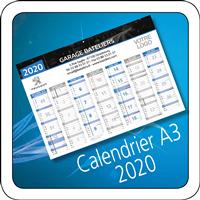 Calendrier Peugeot 2020 A3