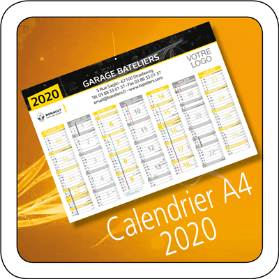 Calendrier Renault 2020 A4